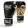 Everlast - Boxhandschuhe / Powerlock Training Gloves / Schwarz-Gold / 14 oz