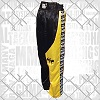 FIGHTERS - Kick-Boxing Hosen / Satin / Schwarz-Gelb / Large