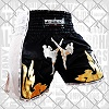 FIGHTERS - Thaibox Shorts / Elite Fighters / Schwarz-Weiss / XS